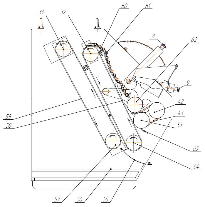 Рогаликовая машина Восход-ТЗ-5 схема работы