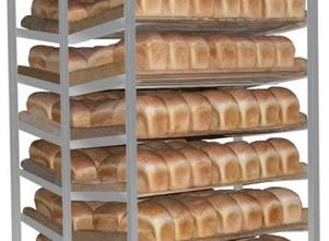 вагонетка лотковая с хлебом