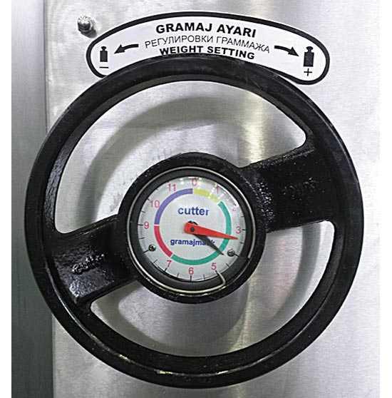 Вакуумно-поршневой тестоделитель КТМ колесо регулировки веса