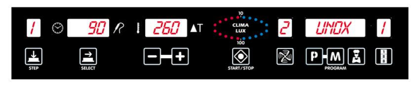 Конвекционная печь Unox XBC 605 E панель управления