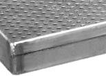 Подовый лист плоский алюминиевый 600х400х20 двухсторонняя отбортовка (двойной загиб борта)