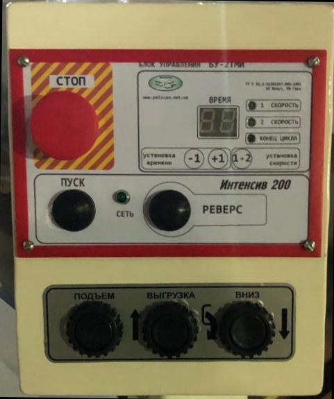 Тестомесильная машина Интенсив 200 пульт управления