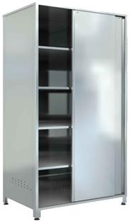 Шкаф-купе кухонный нержавеющий