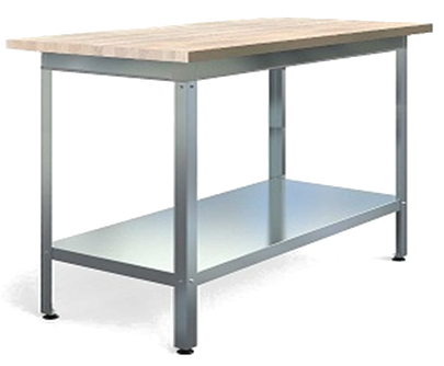 Стол производственный с деревянной столешницей
