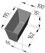 Кассета хлебная 4Л10 размеры одиночной формы