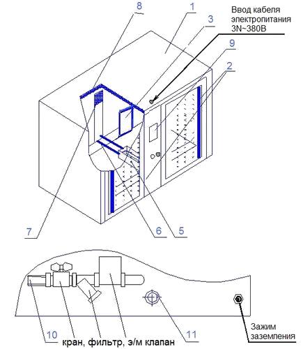 Расстойный шкаф ЭлСи Роса 10 Схема