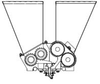 Тестоотсадочная машина Polin Multidrop Twiny головка для печенья с начинкой